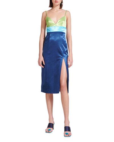Ellis Colorblock Slip Dress