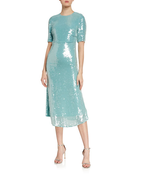 Veronica Beard Carlie Sequined Midi Dress