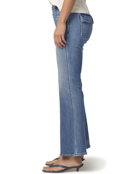 Image 2 of 3: Citizens of Humanity Maisie Patch-Pocket Flare Jeans