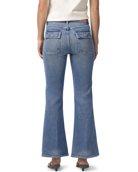 Image 3 of 3: Citizens of Humanity Maisie Patch-Pocket Flare Jeans