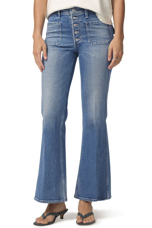 Citizens of Humanity Maisie Patch-Pocket Flare Jeans