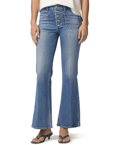 Image 1 of 3: Citizens of Humanity Maisie Patch-Pocket Flare Jeans