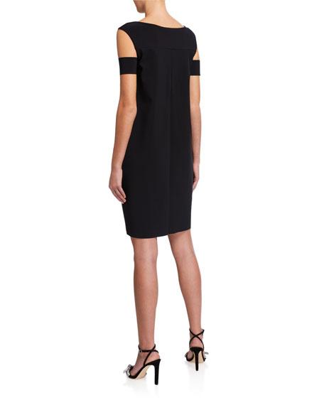 Chiara Boni La Petite Robe Cold-Shoulder Cocktail Dress