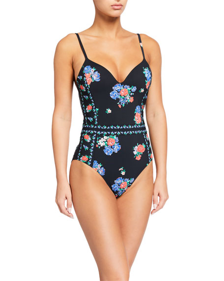 Tory Burch Printed Underwire One-Piece Swimsuit
