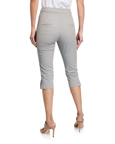 Veronica Beard Dhara Cropped Check Pants