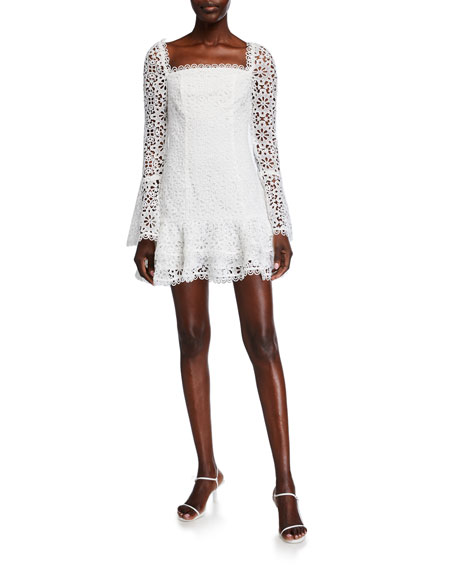 Mestiza New York Sintra Long-Sleeve Eyelet Mini Dress