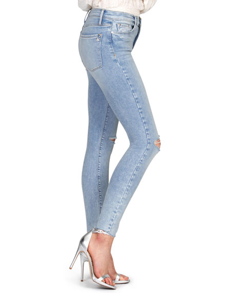 Image 2 of 3: Black Orchid Carmen High-Rise Ankle Fray Jeans