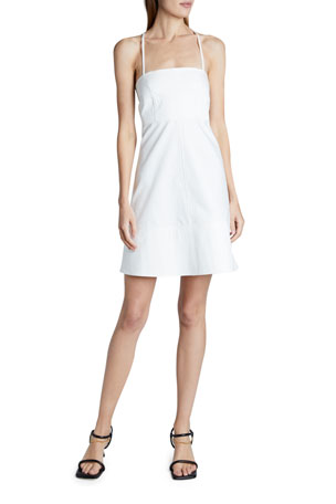 Proenza Schouler White Label Square-neck Cotton Short Dress
