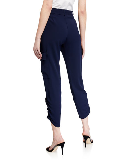 Image 2 of 3: Parker Simone Ruched Ankle Pants