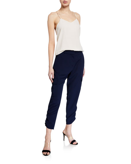 Image 3 of 3: Parker Simone Ruched Ankle Pants
