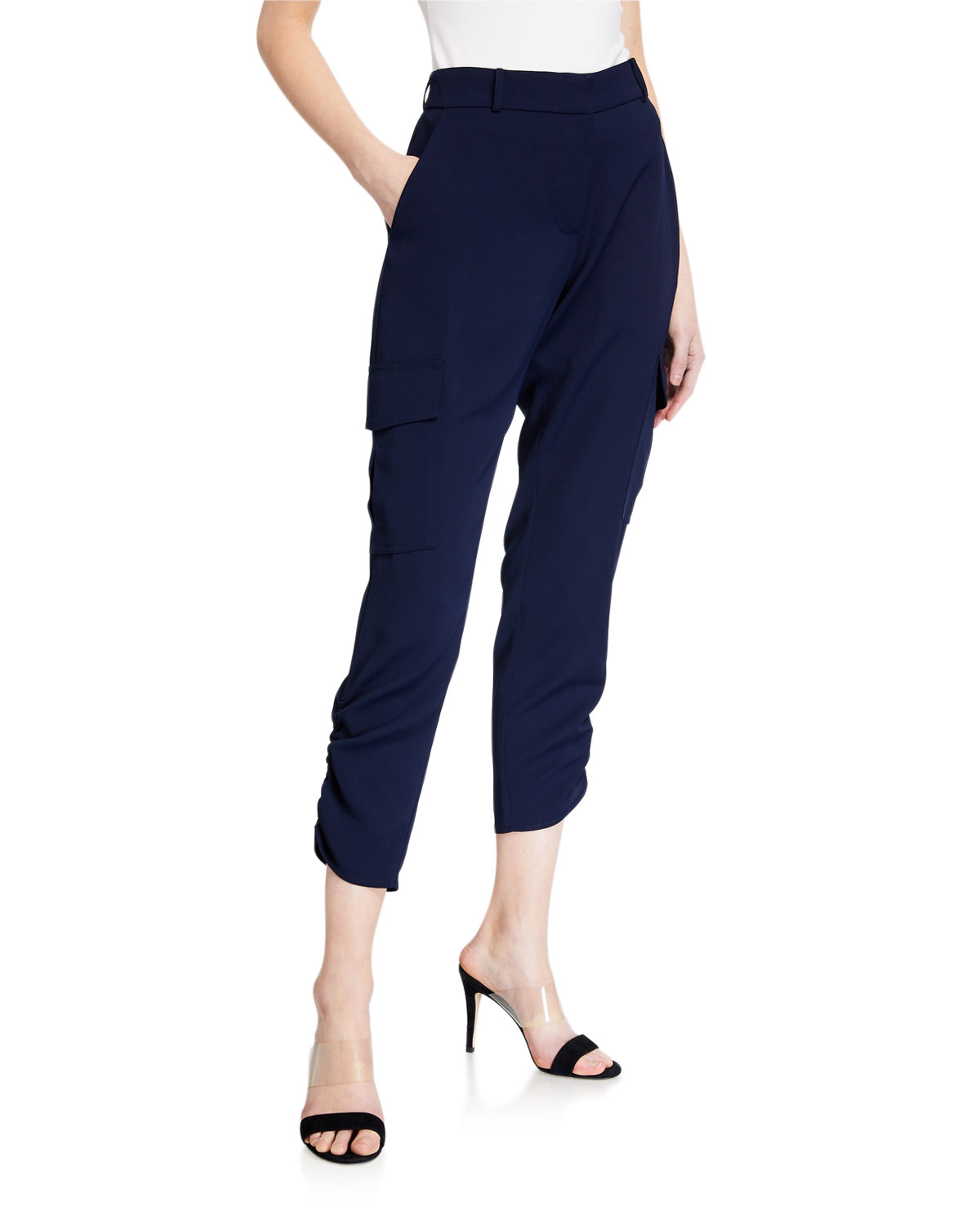 Parker Simone Ruched Ankle Pants