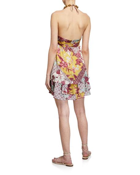 Alexis Irati Printed Halter Mini Dress