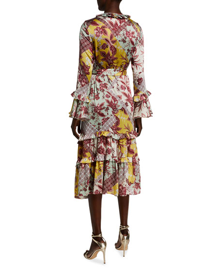 Image 2 of 2: Wiera Printed Wrap Dress