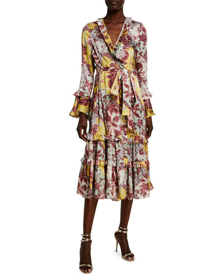 Image 1 of 2: Wiera Printed Wrap Dress