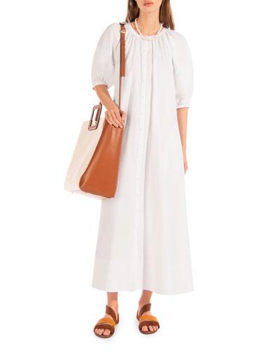 Vincent Button-Front Dress
