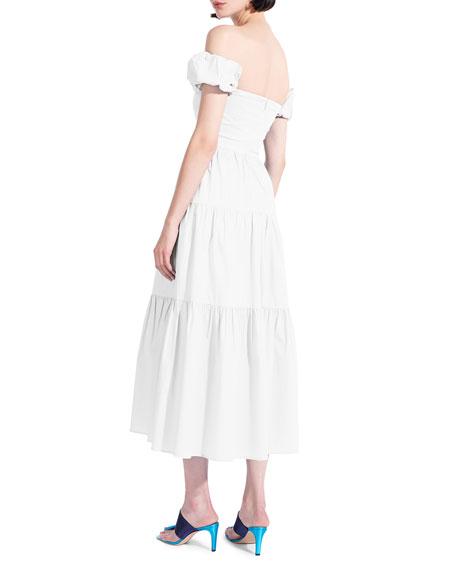 Staud Elio Off-Shoulder Dress