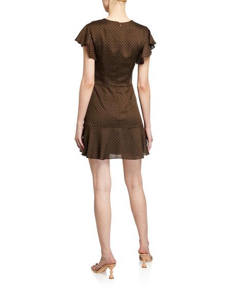 Alexis Benza Flutter-Sleeve Short Dress