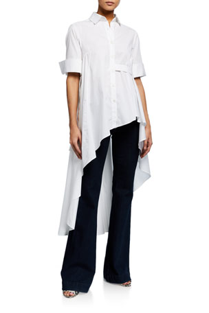 palmer//harding Super Button-Front Asymmetric Shirt
