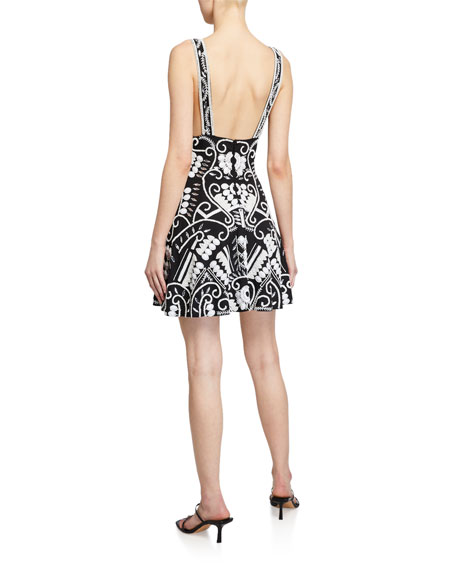 Image 2 of 2: Alexis Jerza Embroidered Short Dress