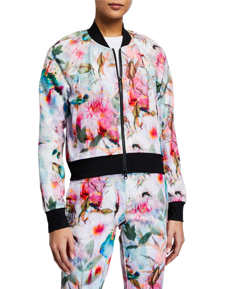 Image 2 of 3: Pam & Gela Floral Cropped Jacket