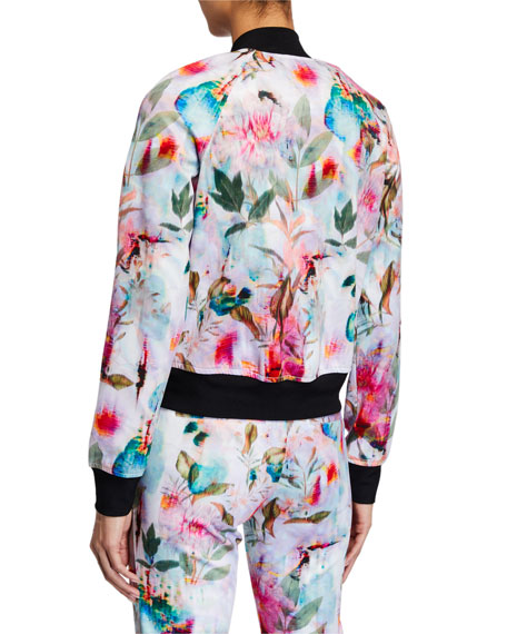 Image 3 of 3: Pam & Gela Floral Cropped Jacket