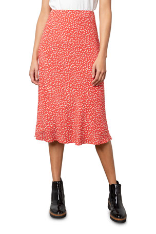 Rails Anya High-Waisted Floral-Print Skirt