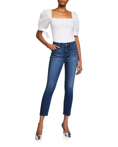Image 3 of 3: Jen7 by 7 for All Mankind High-Rise Skinny Ankle Jeans