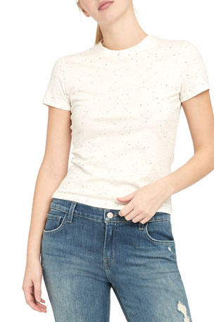 Theory Tiny Tee 2 Speckled Tee