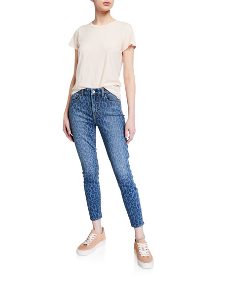 Image 3 of 3: Jen7 by 7 for All Mankind Leopard-Print Ankle Skinny Jeans