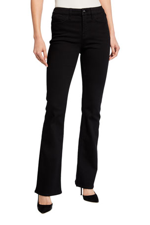 Jen7 by 7 for All Mankind High-Rise Slim-Fit Boot Cut Jeans, Black
