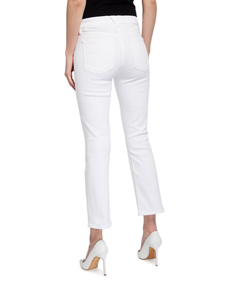 Image 2 of 3: Veronica Beard Jeans Carolyn Button-Front Cropped Flare Jeans
