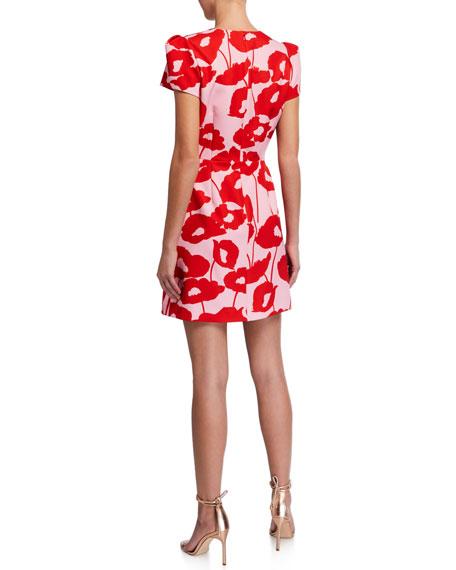Milly Atalie Poppy Floral Print Dress