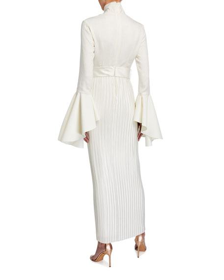 Solace London Kaira Long-Sleeve Belted Maxi Dress