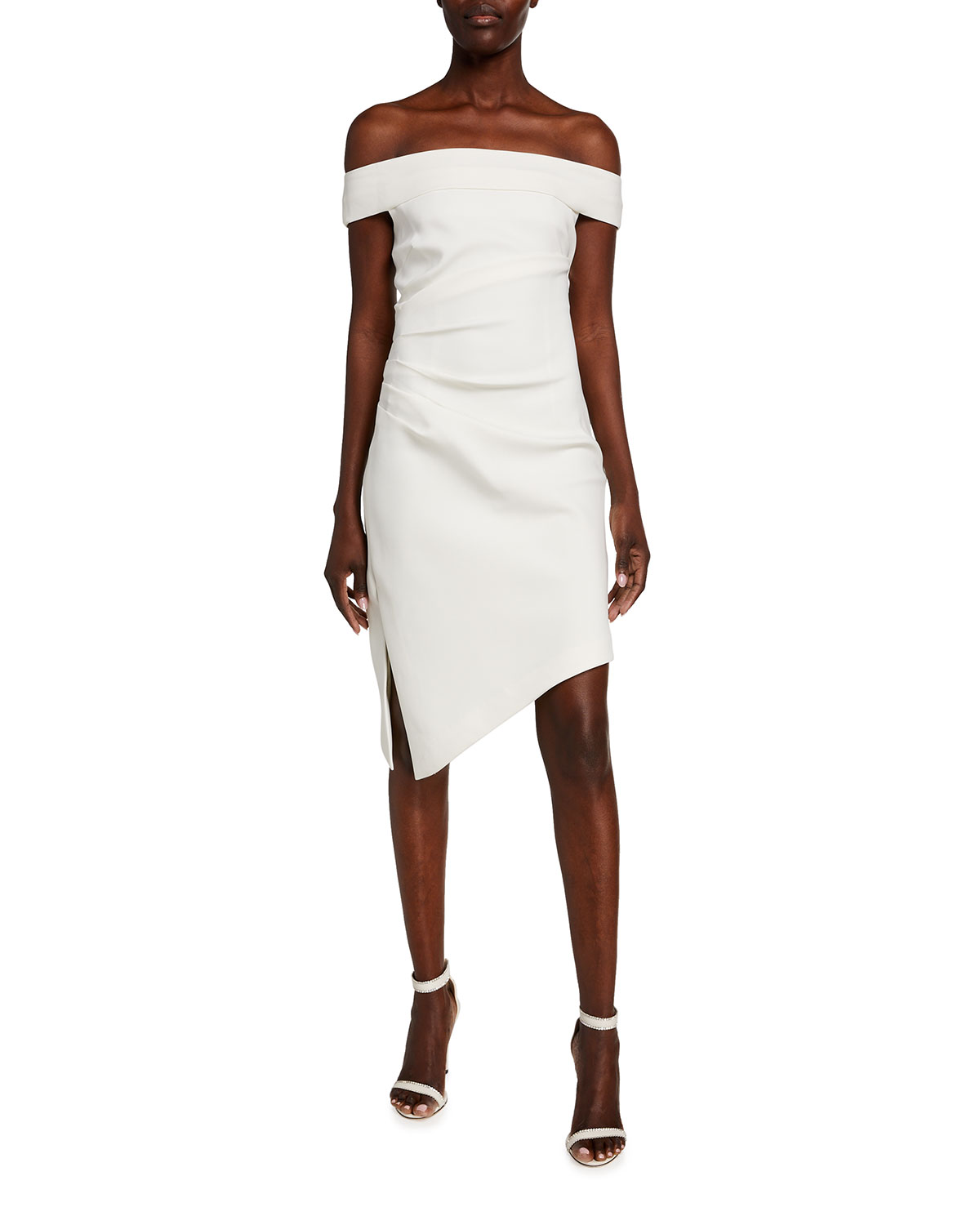 Milly Ally Off-the-Shoulder Cady Cocktail Dress