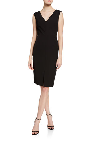 Milly Kristianna Sleeveless Cady Sheath Dress