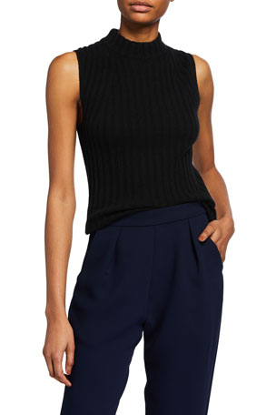 Vince High-Neck Cashmere Shell $245.00