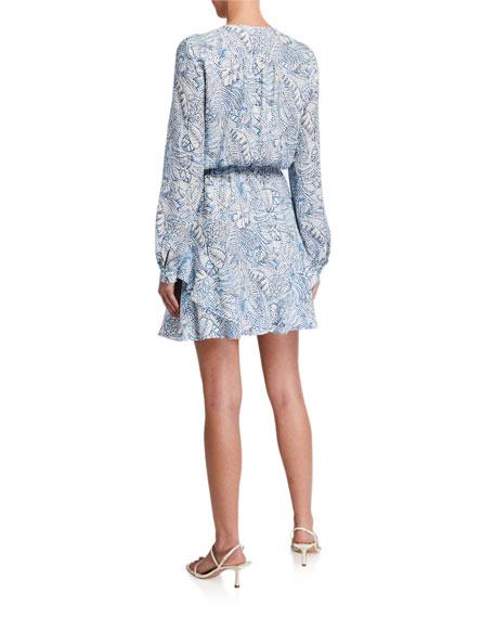 Parker Harbin Printed Long-Sleeve Dress