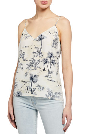 FRAME Mixed Toile V-Neck Cami