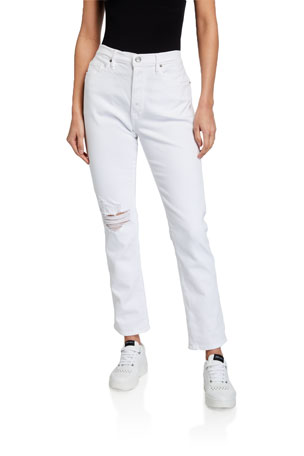 FRAME Le Beau Straight-Leg Jeans