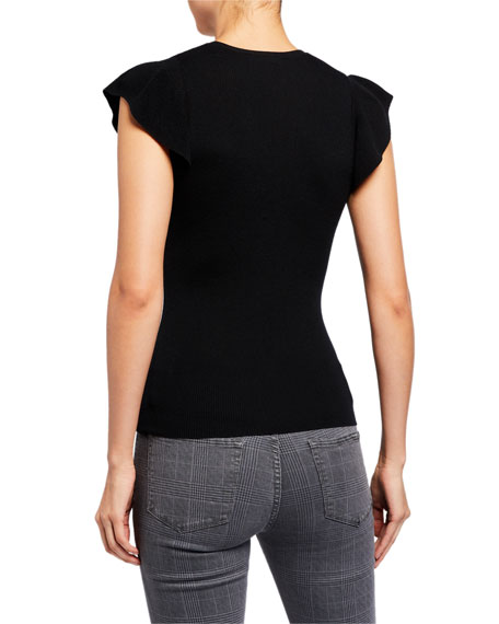 Image 2 of 2: True Feminine Short-Sleeve Sweater