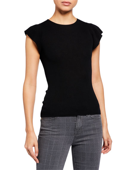 Image 1 of 2: True Feminine Short-Sleeve Sweater