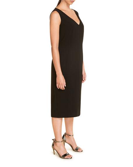 Marina Rinaldi Plus Size Divinita V-Neck Triacetate Sheath Dress