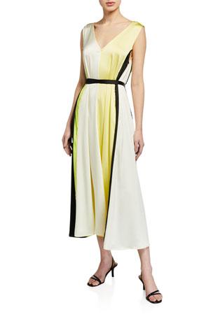 Stine Goya Yara Colorblock Satin Dress