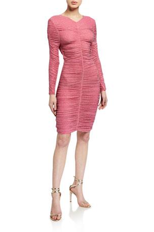 Stine Goya Blake Ruched Long-Sleeve Dress