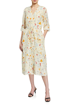 Stine Goya Camilla Printed Button-Front Dress