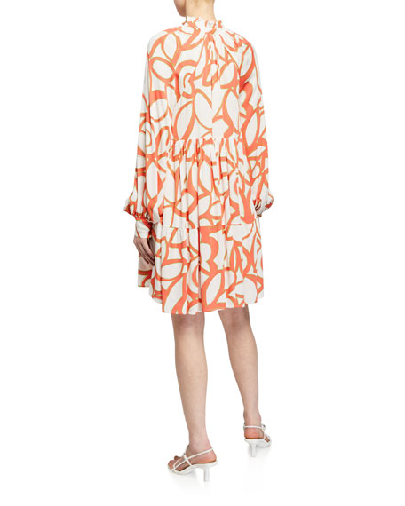 Stine Goya Jasmine Printed Long-Sleeve Dress