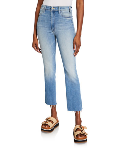 The Hustler Ankle Fray Boot-Cut Jeans