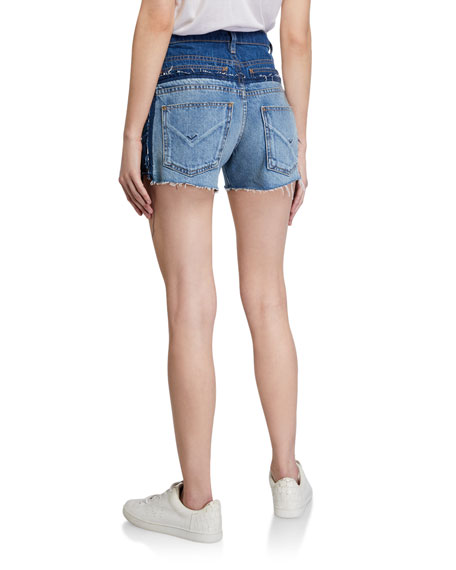 Image 2 of 3: Hudson Double Jean Cutoff Shorts