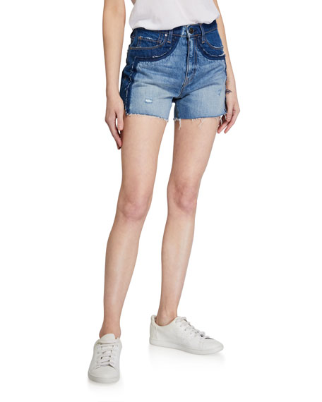 Image 1 of 3: Hudson Double Jean Cutoff Shorts