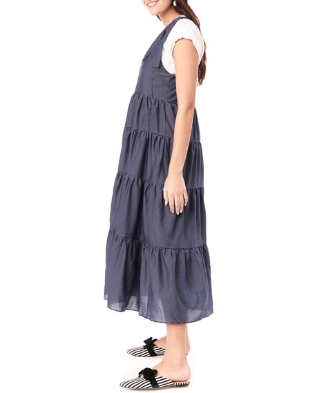 Image 2 of 4: Loyal Hana Maternity Rio Tiered Racerback Dress